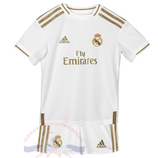 Magasin Foot adidas Domicile Ensemble Enfant Real Madrid 2019 2020 Blanc