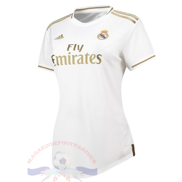 Magasin Foot adidas Domicile Maillot Femme Real Madrid 2019 2020 Blanc