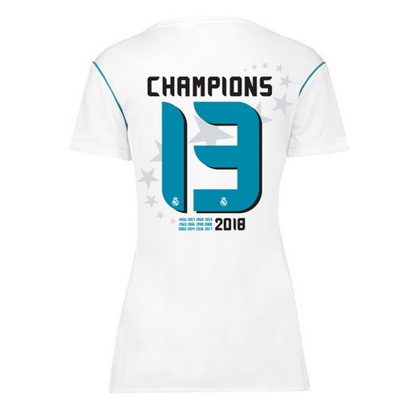 Magasin Foot adidas Champions 13 Domicile Maillots Femme Real Madrid 2017 2018 Blanc