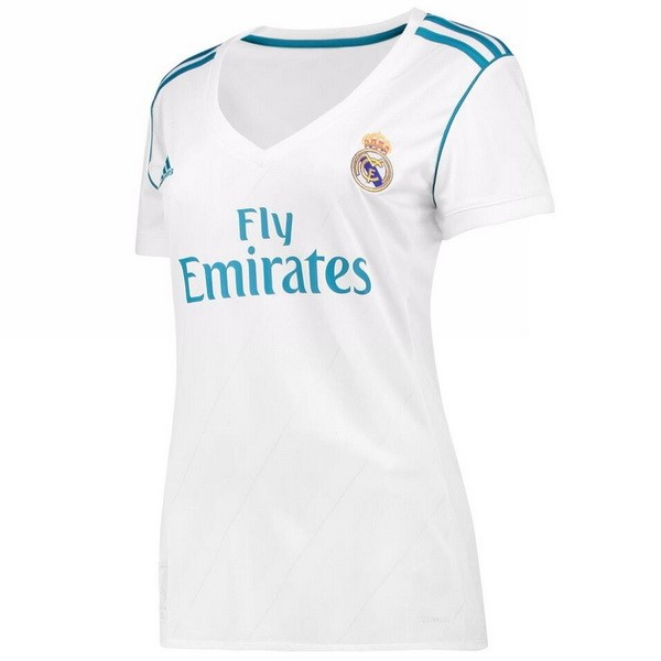 Magasin Foot adidas Domicile Maillots Femme Real Madrid 2017 2018 Blanc