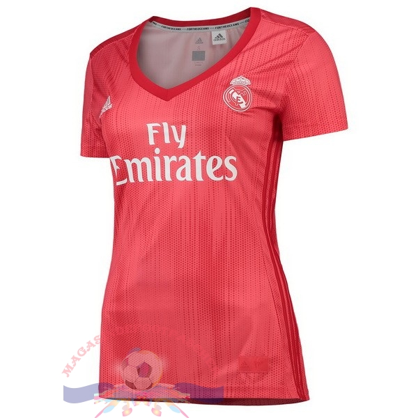 Magasin Foot adidas Third Maillots Femme Real Madrid 2018-2019 Rouge