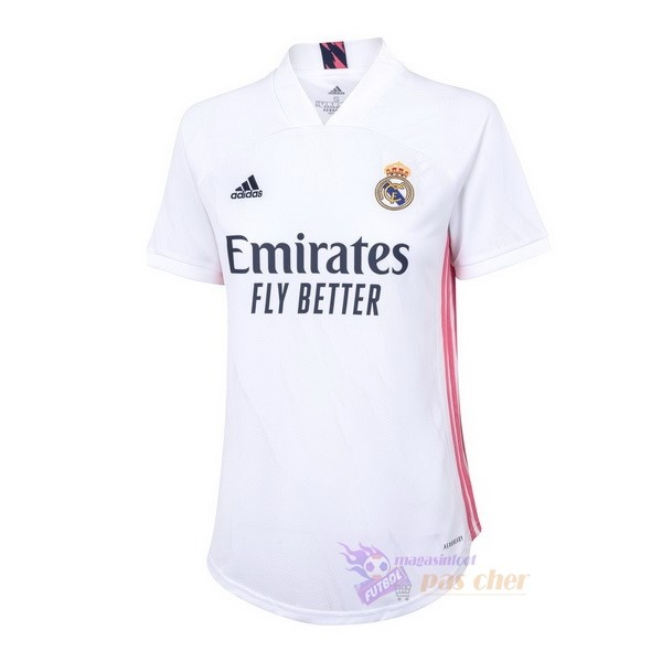 Magasin Foot adidas Domicile Maillot Femme Real Madrid 2020 2021 Blanc