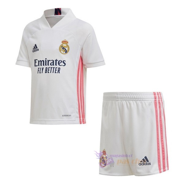 Magasin Foot adidas Domicile Conjunto De Enfant Real Madrid 2020 2021 Blanc