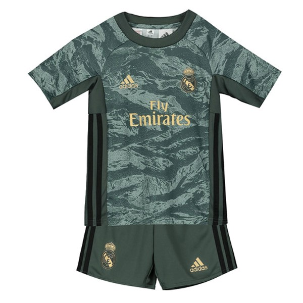 Magasin Foot adidas Exterieur Ensemble Enfant Gardien Real Madrid 2019 2020 Vert