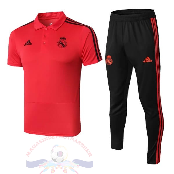 Magasin Foot adidas Ensemble Polo Real Madrid 2018 2019 Rouge