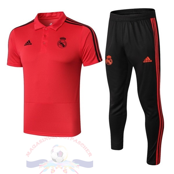 Magasin Foot adidas Ensemble Polo Real Madrid 2018 2019 Rouge Noir