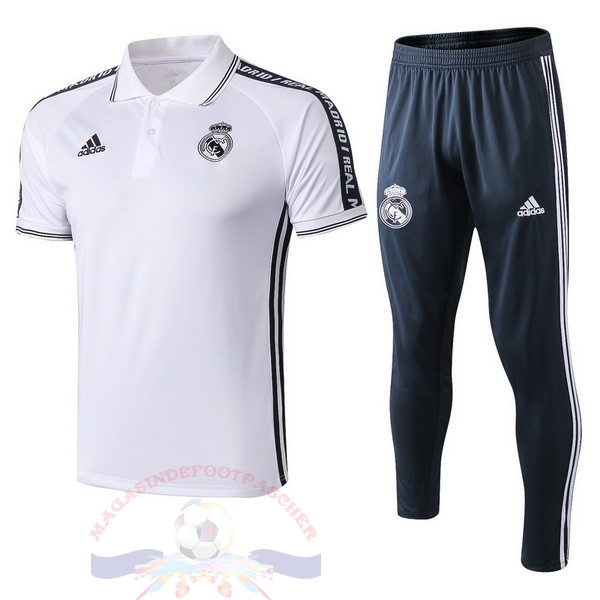 Magasin Foot adidas Ensemble Polo Real Madrid 2019 2020 Blanc
