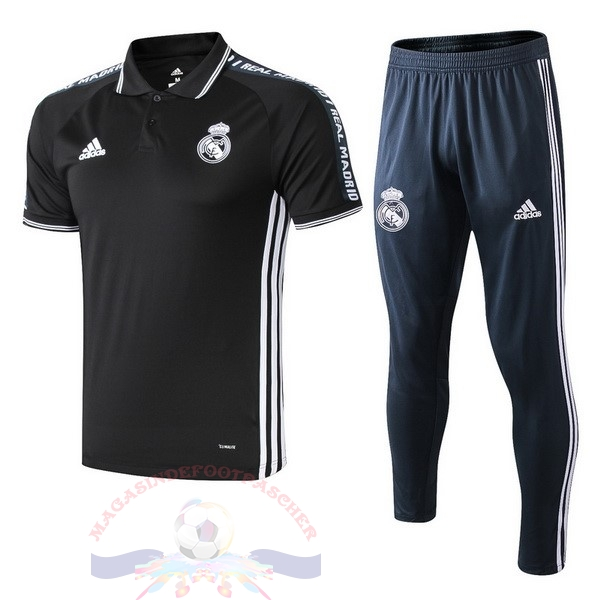 Magasin Foot adidas Ensemble Polo Real Madrid 2019 2020 Noir