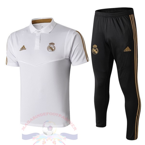 Magasin Foot adidas Ensemble Polo Real Madrid 2019 2020 Noir Blanc