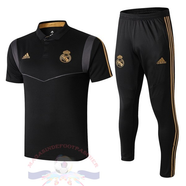 Magasin Foot adidas Ensemble Polo Real Madrid 2019 2020 Noir Gris