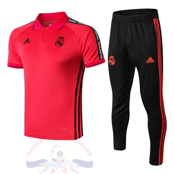 Magasin Foot adidas Ensemble Polo Real Madrid 2019 2020 Rouge Noir