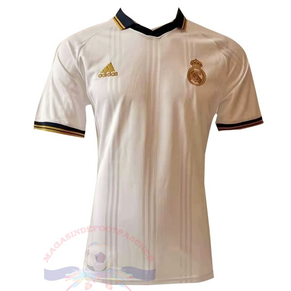 Magasin Foot adidas Polo Real Madrid 2019 2020 Blanc Jaune