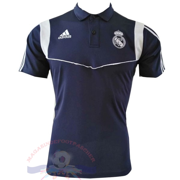 Magasin Foot adidas Polo Real Madrid 2019 2020 Bleu Marine