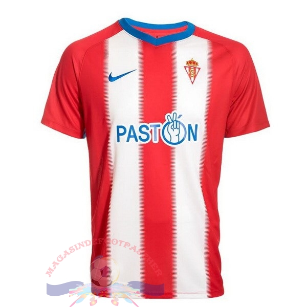 Magasin Foot Nike Domicile Maillots Real Sporting de Gijón 2018-2019 Rouge