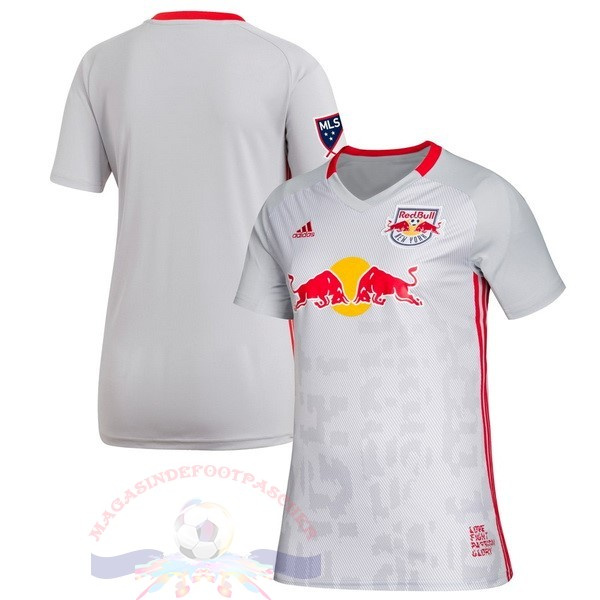 Magasin Foot Adidas DomiChili Maillot Femme Red Bulls 2019 2020 Blanc