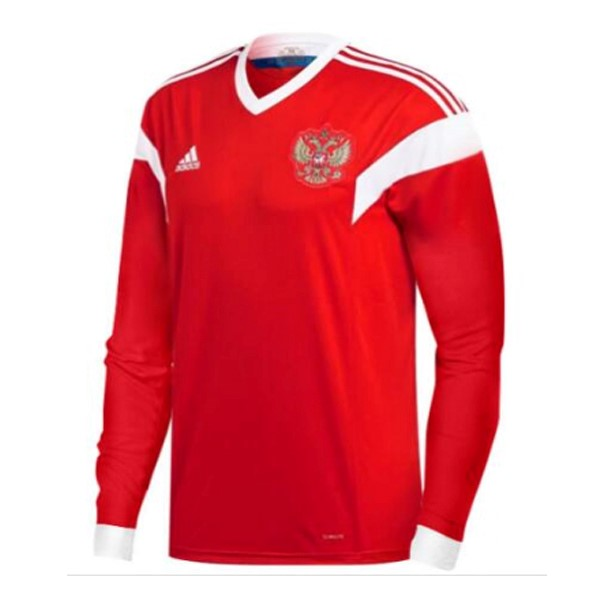 Magasin Foot adidas Domicile Manches Longues Russie 2018 Rouge