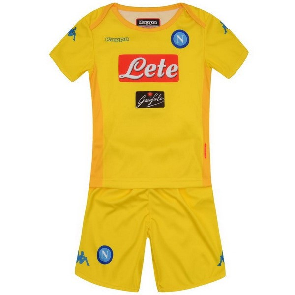 Magasin Foot Kappa Exterieur Ensemble Enfant Naples 2017 2018 Jaune