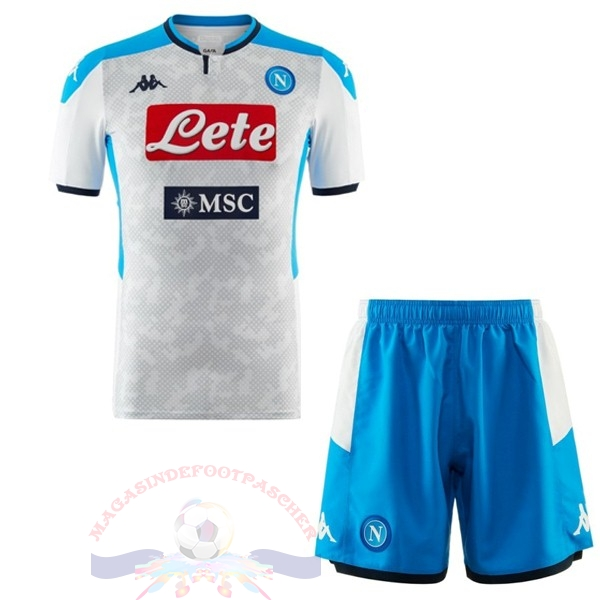 Magasin Foot Kappa Third Ensemble Enfant Naples 2019 2020 Blanc Bleu