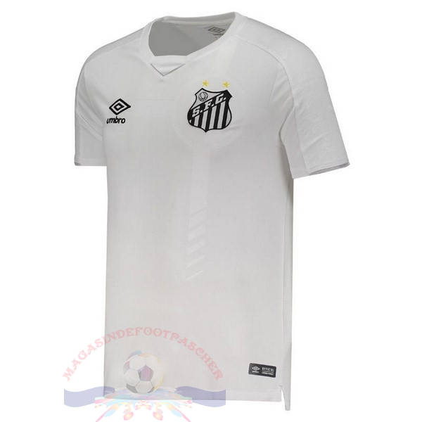 Magasin Foot umbro Domicile Maillot Santos 2019 2020 Blanc