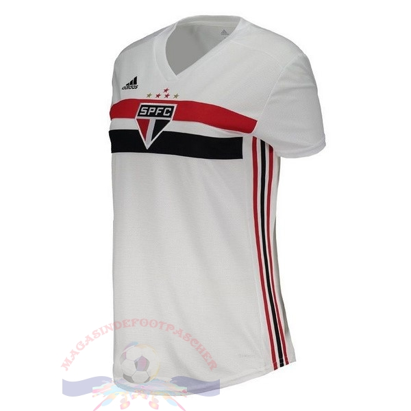Magasin Foot adidas Domicile Maillot Femme São Paulo 2019 2020 Blanc