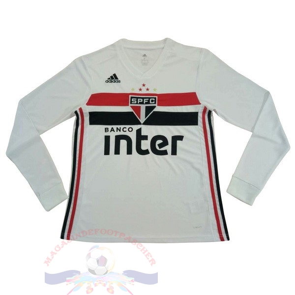 Magasin Foot adidas Domicile Manches Longues São Paulo 2019 2020 Blanc