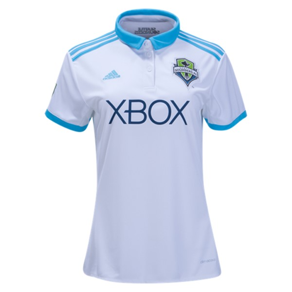 Magasin Foot adidas Domicile Maillots Femme Sounders de Seattle 2017 2018 Blanc