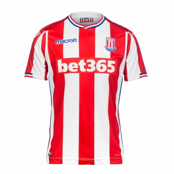 Magasin Foot Macron Domicile Maillots Stoke City 2017 2018 Rouge