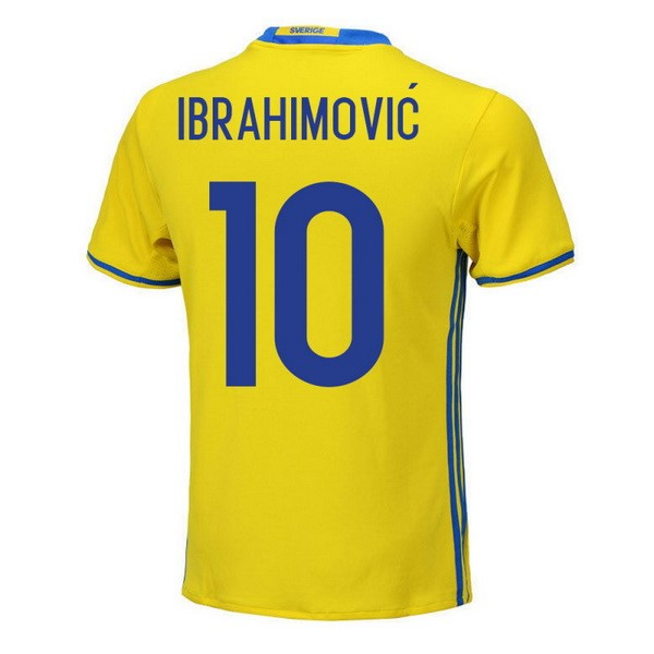 Magasin Foot adidas NO.10 Ibrahimovic Domicile Maillots Sweden 2018 Jaune