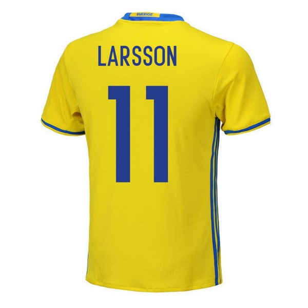 Magasin Foot adidas NO.11 Larsson Domicile Maillots Sweden 2018 Jaune