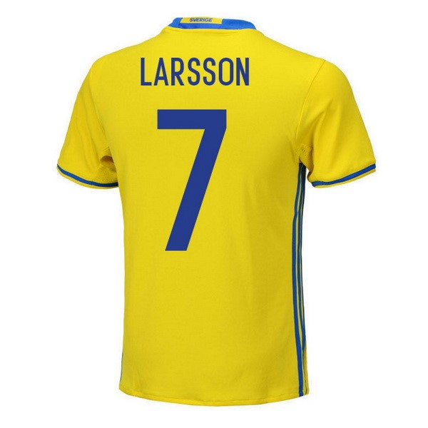 Magasin Foot adidas NO.5 Larsson Domicile Maillots Sweden 2018 Jaune