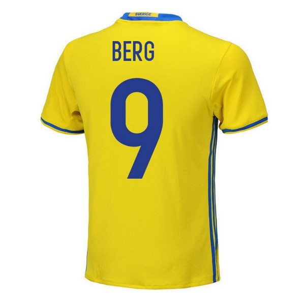Magasin Foot adidas NO.9 Berg Domicile Maillots Sweden 2018 Jaune