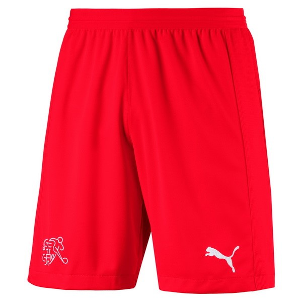 Magasin Foot PUMA Domicile Shorts Suisse 2018 Rouge