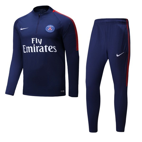 Magasin Foot Nike De Laine Survêtements Paris Saint Germain 2017 2018 Bleu