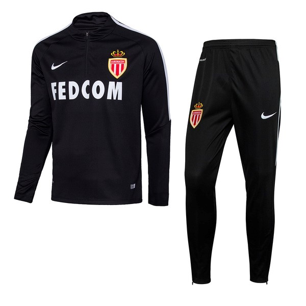 Magasin Foot Nike Survêtements AS Monaco 2017 2018 Noir
