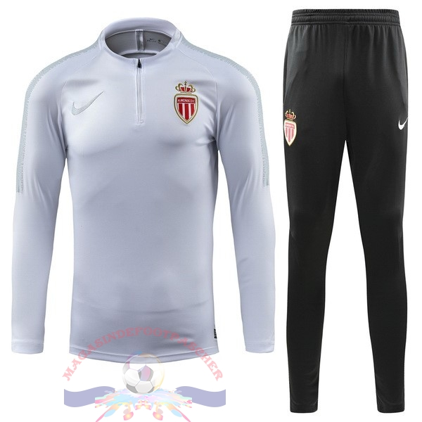 Magasin Foot Nike Survêtements AS Monaco 2018-2019 Blanc