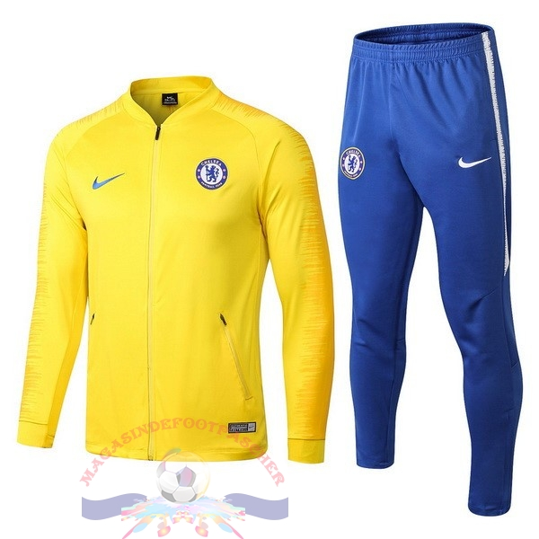 Magasin Foot Nike Survêtements Chelsea 2018-2019 Jaune