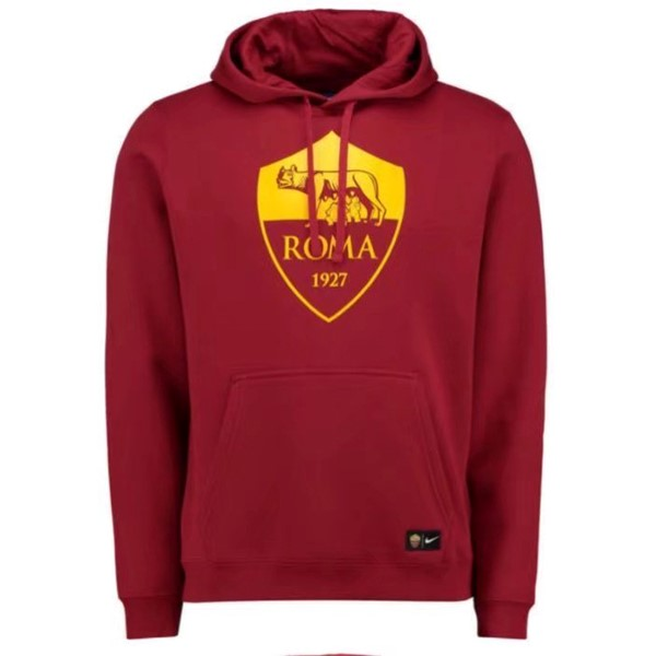 Magasin Foot Nike Sweat Shirt Capuche AS Roma 2017 2018 Rouge