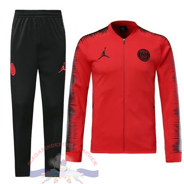 Magasin Foot JORDAN Survêtements Paris Saint Germain 18-19 Rouge Marine