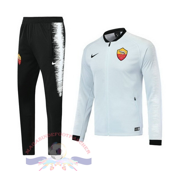 Magasin Foot Nike Survêtements AS Roma 18-19 Blanc