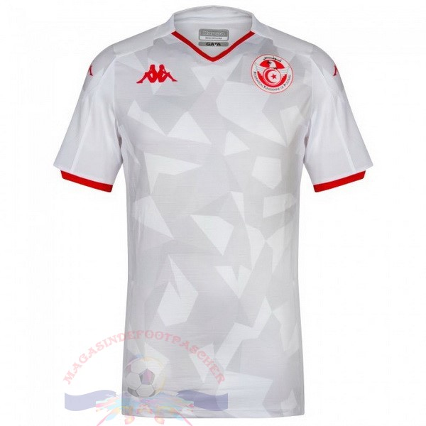 Magasin Foot Kappa Domicile Maillot Tunisie 2019 Blanc