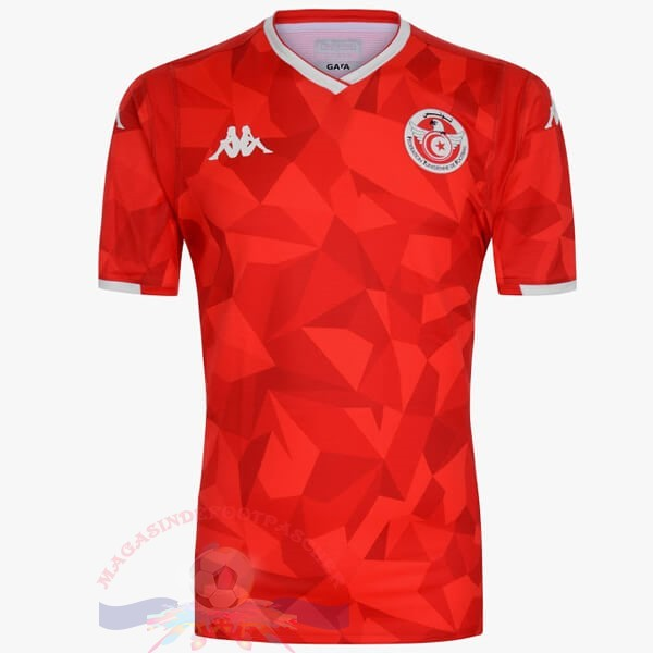 Magasin Foot Kappa Exterieur Maillot Tunisie 2019 Rouge