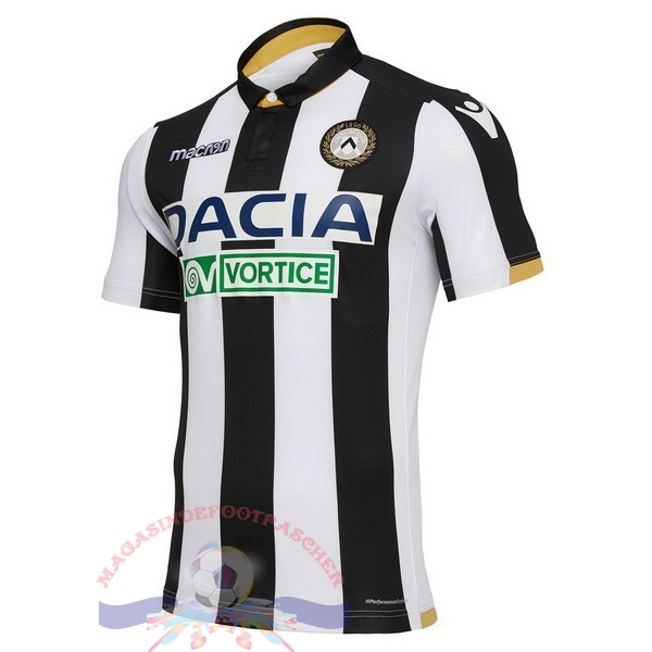 Magasin Foot Macron Domicile Maillots Udinese 18-19 Noir Blanc
