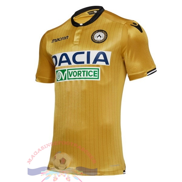 Magasin Foot Macron Exterieur Maillots Udinese 18-19 Jaune