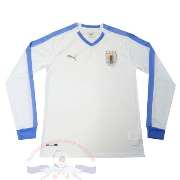 Magasin Foot PUMA Exterieur Manches Longues Uruguay 2019 Blanc