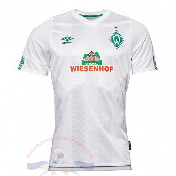Magasin Foot Umbro Exterieur Maillot Werder Brême 2019 2020 Blanc