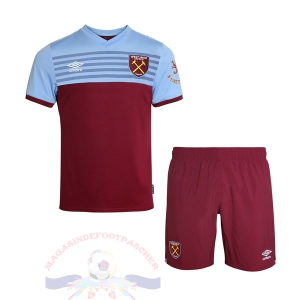 Magasin Foot Umbro Domicile Ensemble Enfant West Ham United 2019 2020 Rouge