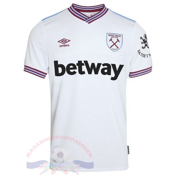 Magasin Foot umbro Exterieur Maillot West Ham 2019 2020 Blanc