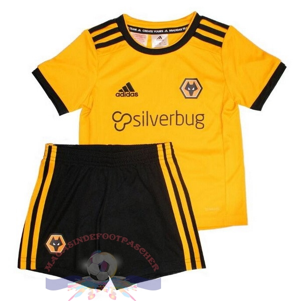 Magasin Foot adidas Domicile Ensemble Enfant Wolves 2018-2019 Jaune