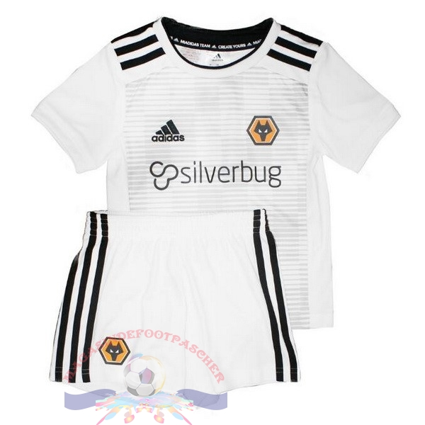Magasin Foot adidas Exterieur Ensemble Enfant Wolves 2018-2019 Blanc