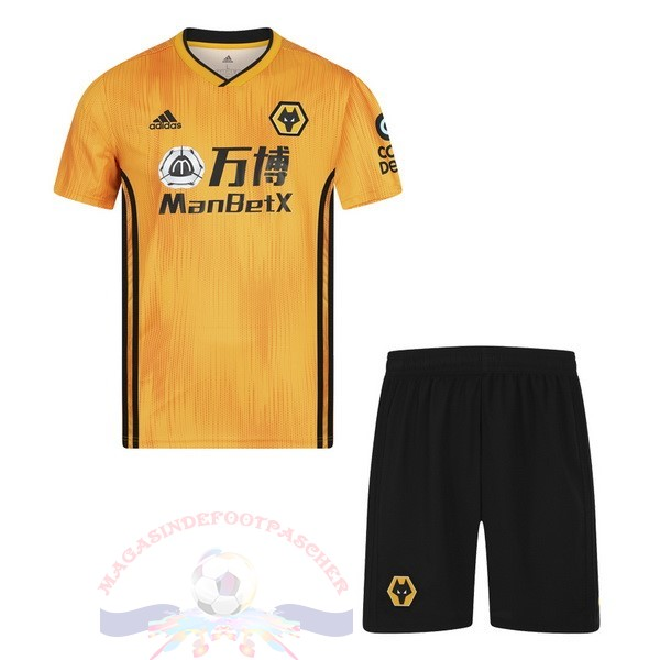 Magasin Foot Adidas Domicile Ensemble Enfant Wolves 2019 2020 Amarillo